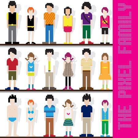 beachwear: Pixel Family Character