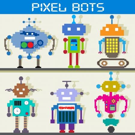 Pixel Robot Stock Vector - 18627764