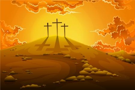 resurrecci�n: Calvario Crucifixi�n Vectores