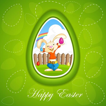 Bunny with Easter Egg Stock Vector - 18627854
