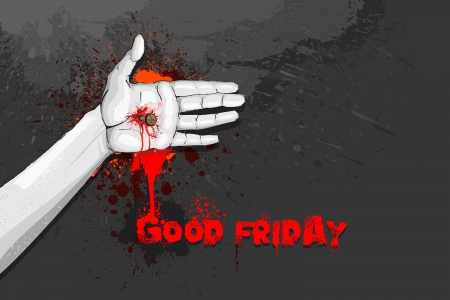 nailed: Good Friday Illustration
