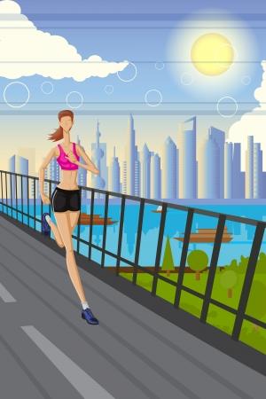 road runner: Jogging Lady Illustration