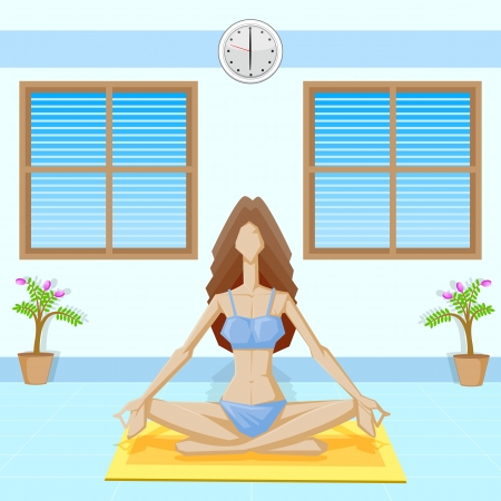 Lady doing Yoga Stock Vector - 18955466