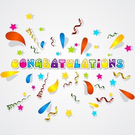 congratulations banner: Paper Confetti Background