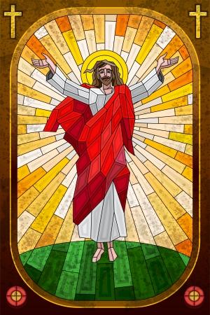 Pintura Vitral de Jes�s Cristo