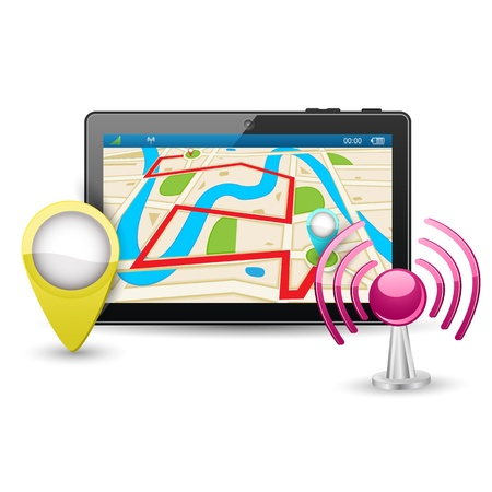 GPS Device Stock Vector - 19114012