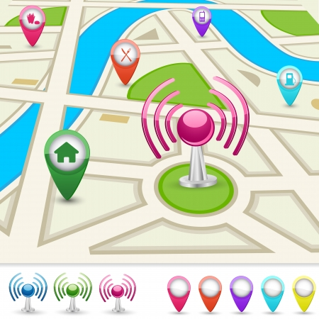 Road Map for GPS Application Vector