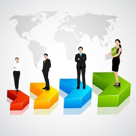 Business Team in Progress Stock Vector - 19113985