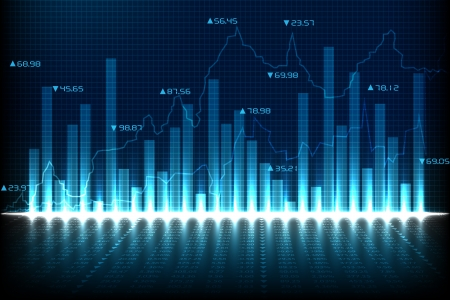 Financiële Grafiek Grafiek Stock Illustratie