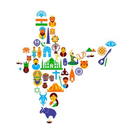 cultura: Cultura india Vectores