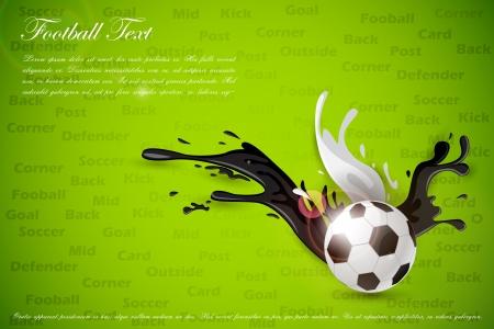splashy: Colorful Splashy Soccer Ball Illustration