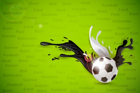 splashy: Colorful Splashy Soccer Ball Illustration