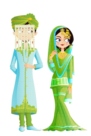 Muslim Wedding Couple 免版税图像