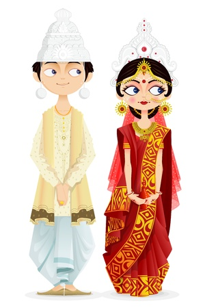 asian bride: Bengali Wedding Couple