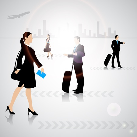 Busy People Vector