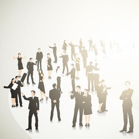 Business Crowd 矢量图像
