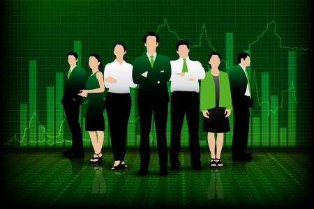 Successful Business Team Vector
