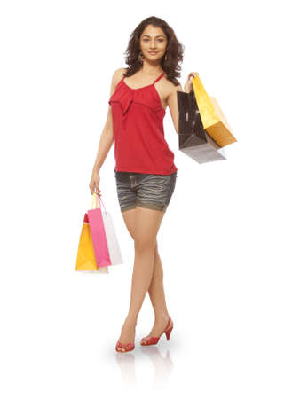 Woman with Shoping Bag Stock Photo - 19636705