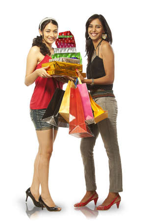 Lady Friend with Shopping Bags Stock Photo - 19636717
