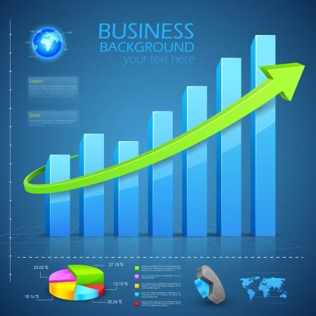 Business grafiek Vector Illustratie