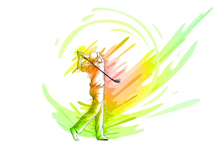 Golf Player Stock Vector - 19890816