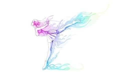 figure skater: Woman Ice Skater