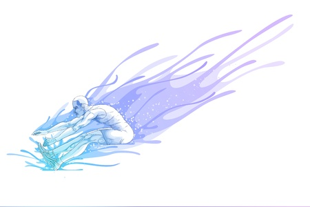 long jump: Long Jump Illustration