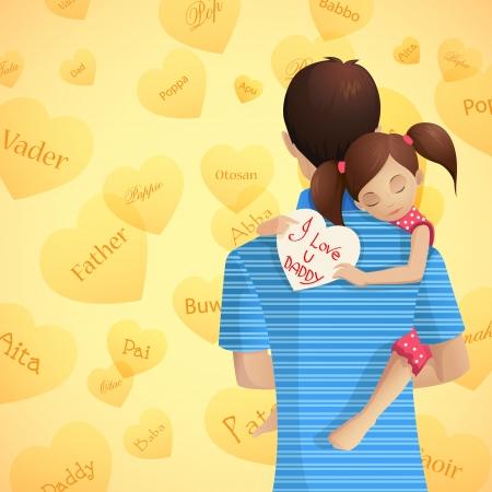 pere et fille: P?re et fille Illustration