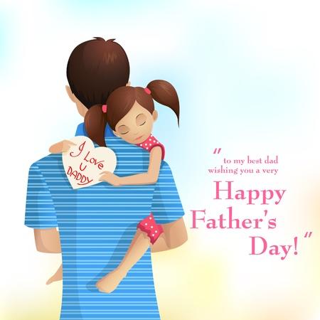 Vader en Dochter Vector Illustratie