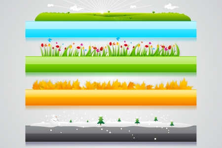 Four Season Header Vector