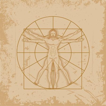vitruvian man: Hombre de Vitruvio de Leonardo Da Vinci