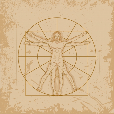 leonardo da vinci: Vitruvian Man by Leonardo Da Vinci