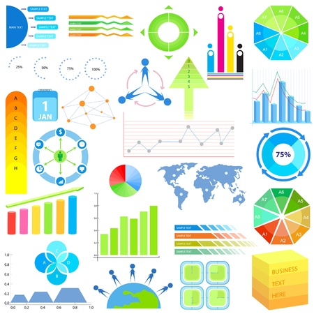 Infographic Chart of Data Stock Vector - 19903293