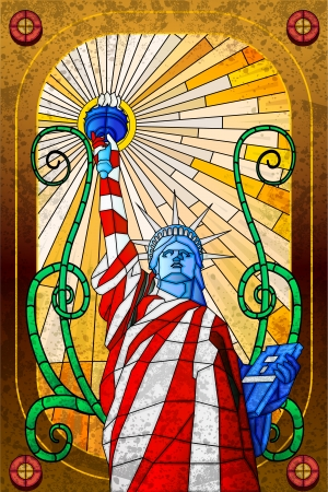 independance day: Statue of Liberty Illustration