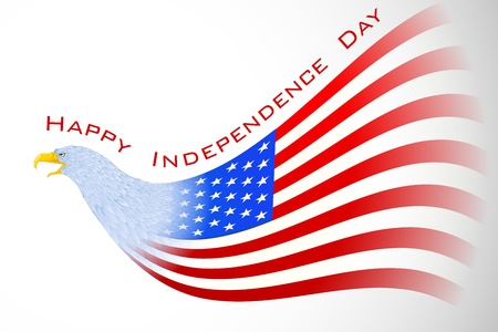 independance day: Eagle with American Flag Illustration