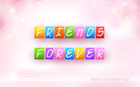 Happy Friendship Day background Vector