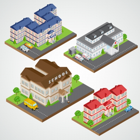 Isometric Building Stock Vector - 21611789