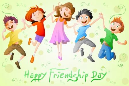 Kids celebrating Friendship Day
