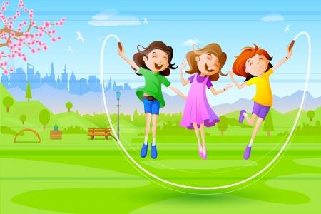 Girls celebrating Friendship Day Vector
