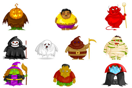 easy to edit vector illustration of Halloween character Vector