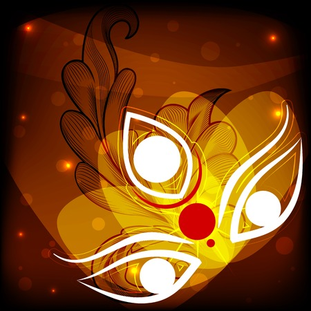easy to edit vector illustration Happy Durga Puja
