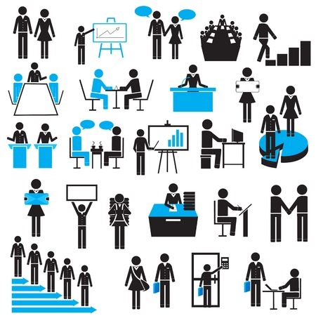 easy to edit vector illustration of businessman icon