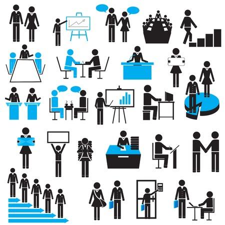 aziende: facile da modificare illustrazione vettoriale di icona di affari Vettoriali