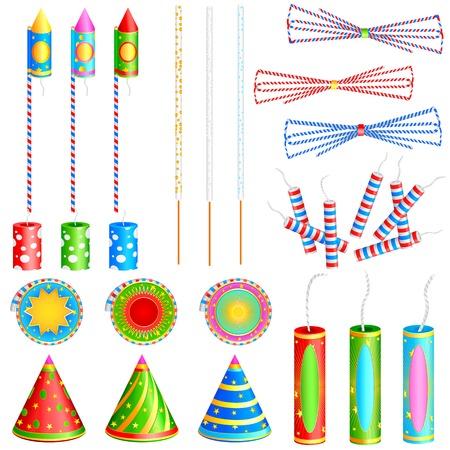 cracker: easy to edit vector illustration of colorful firecracker Illustration