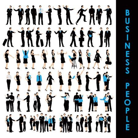 hombres ejecutivos: fácil de editar ilustración vectorial de colección de la gente de negocios Vectores