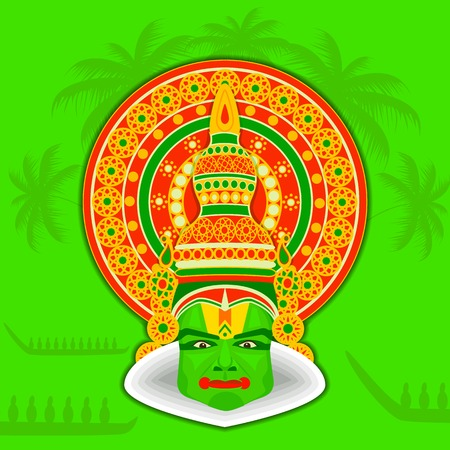 kerala culture: easy to edit vector illustration of Illustration