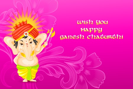 ganapati: easy to edit vector illustration of Lord Ganesha Illustration