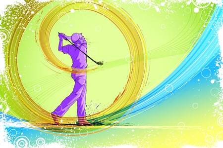 easy to edit vector illustration of golf player Vector