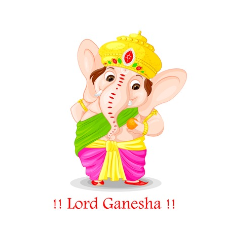bless: easy to edit vector illustration of Lord Ganesha Illustration