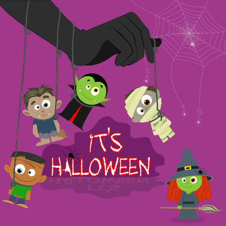 easy to edit vector illustration of Halloween character